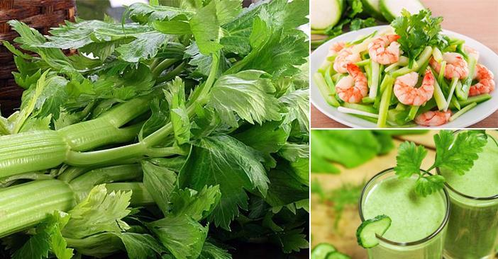 Rau cần tây giúp bạn giảm cân hiệu quả