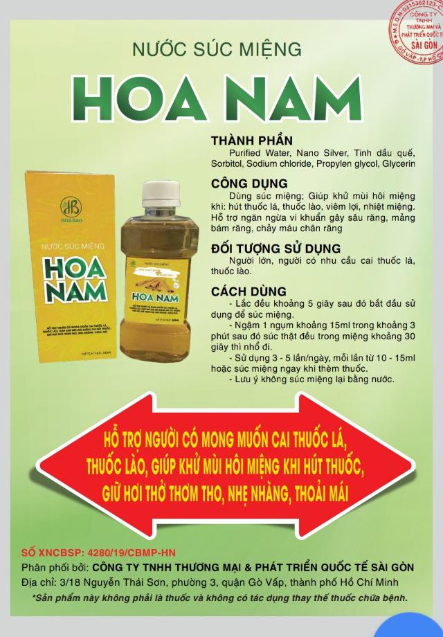 Thanh phan cai thuoc la Hoa Nam