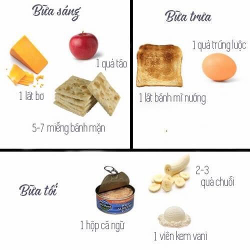 Thực đơn ăn kiêng giảm cân ngày 3