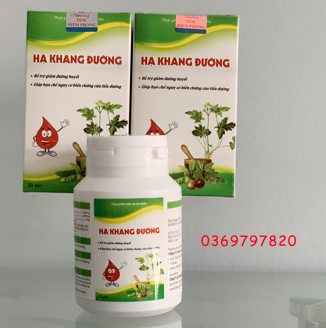 Ha Khang Đường hỗ trợ điều trị tiểu đường